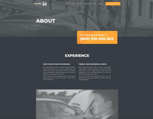 #1 Dependable Towing Services Pro Business Theme