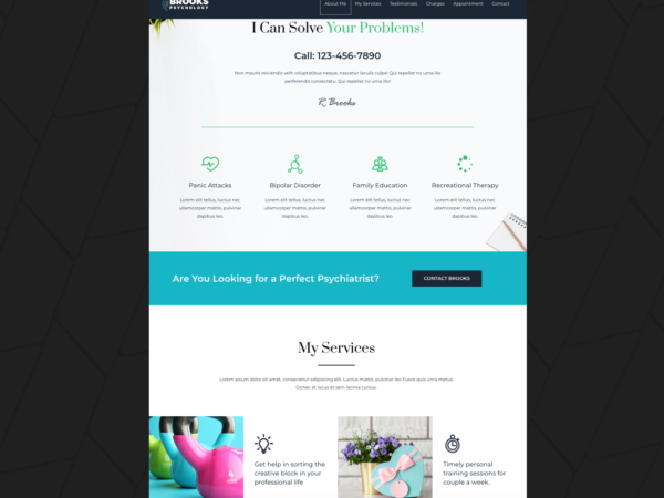 #1 Dynamic Psychiatrist Business Theme