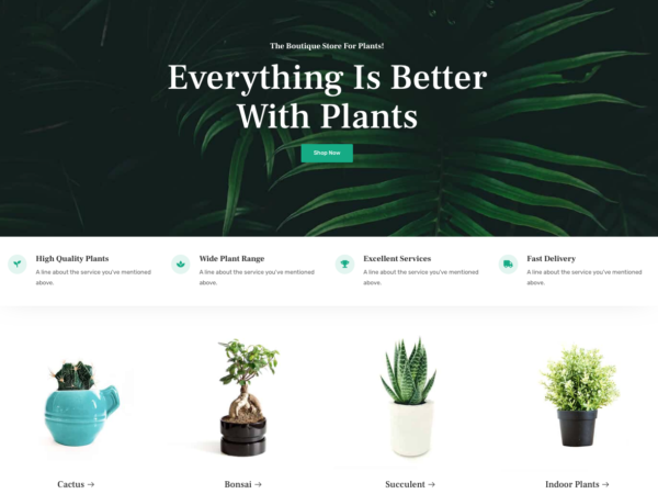 #1 Organic Adaptable Plant Shop eCommerce Theme