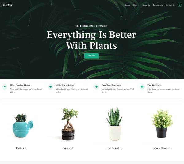 #1 Organic Adaptable Plant Shop eCommerce Theme