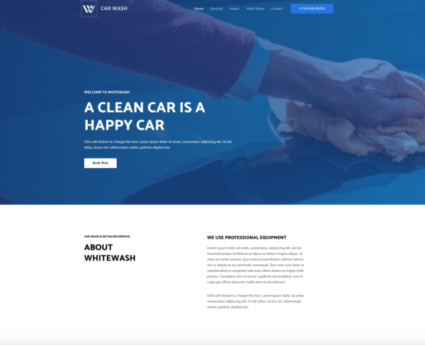 #1 On-Demand Car Wash Services Pro Business Theme