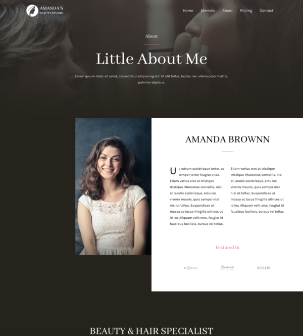 #1 Gorgeous Makeup Artist Studio Services Pro Business Theme