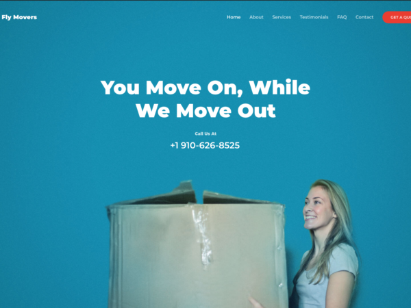#1 Fly Fast Moving Discount Services Business Theme