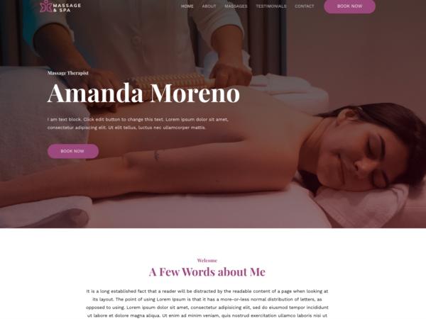 #1 Superb Pleasant Massage Therapist Business Theme