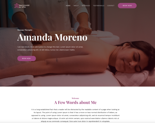 #1 Superb Pleasant Massage Therapist Business Theme