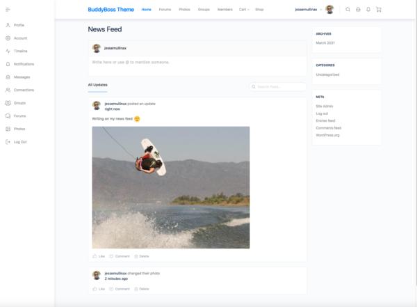 #1 Dynamic Social Community eCommerce BuddyBoss Theme