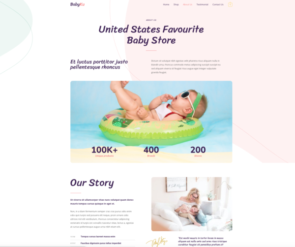 #1 Baby Essential Fashion Nursery eCommerce Theme