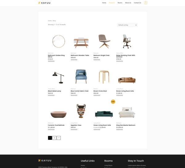 #1 Masterclass Online Furniture Store eCommerce Theme